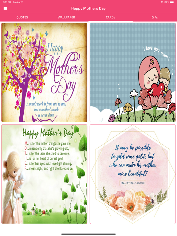 Screenshot #5 pour Mothers Day Cards & Wallpapers