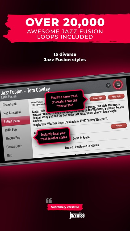 SessionBand Jazz Fusion screenshot-2