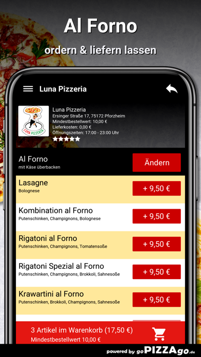 Luna Pizzeria Pforzheim screenshot 6