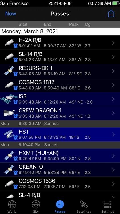 GoSatWatch Satellite Tracking