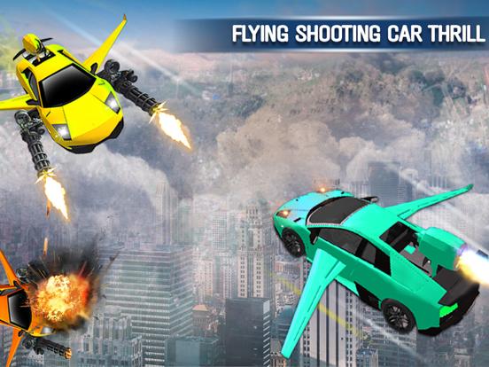 Car Shooting Flying Battle Sim