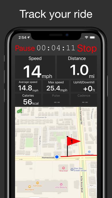 Fitmeter Bike - GPS Cyclingのおすすめ画像1