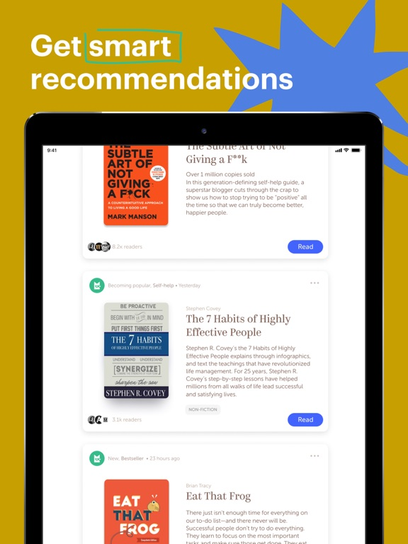 Bookmate - find yourself reading screenshot