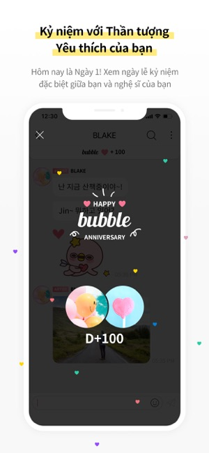 bubble with STARS