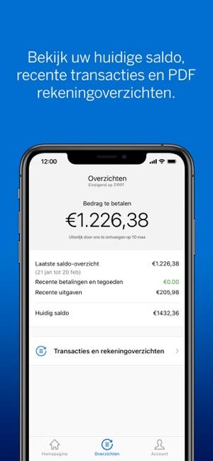 Amex Nederland In De App Store