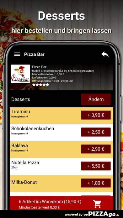 Pizza Bar Kaiserslautern screenshot 6