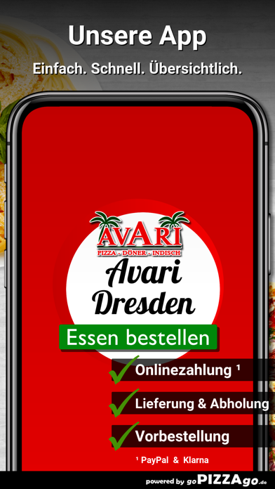 Avari Pizzaservice Dresden screenshot 1