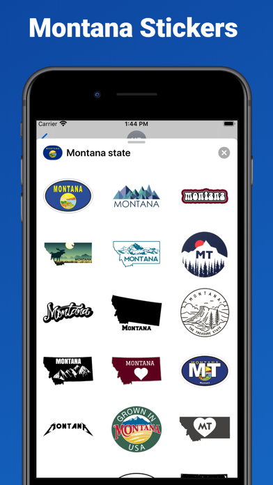 Montana state - USA stickers screenshot 1