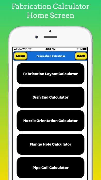 Fabrication Calculator screenshot 1