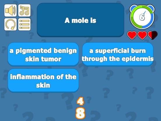 Integumentary Sys Skin Quiz screenshot 8
