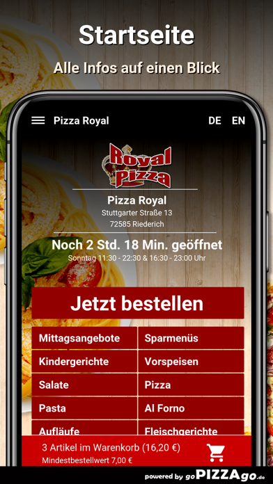 Pizza Royal Riederich screenshot 2