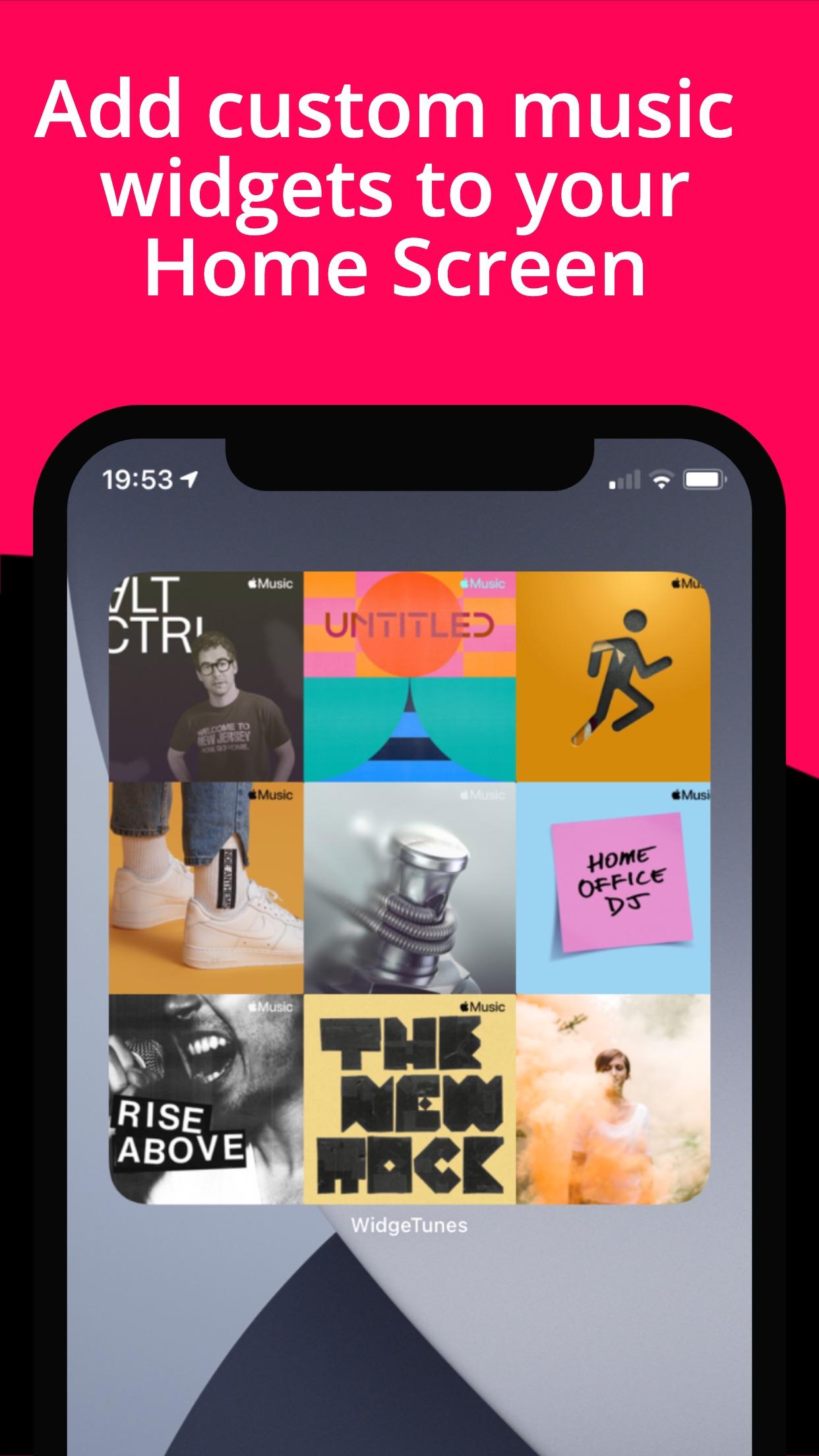 Screenshot do app WidgeTunes - Music Widgets