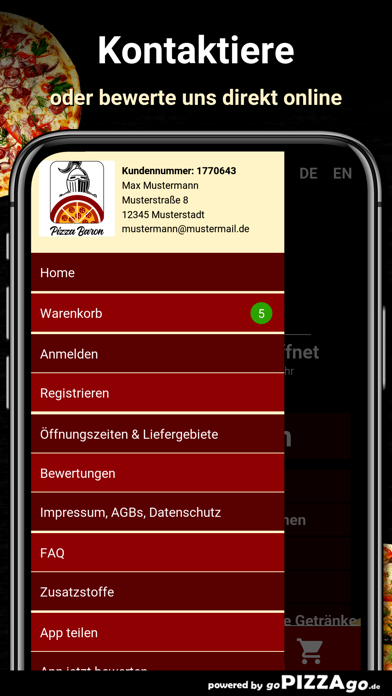 Baron Berlin Pizza screenshot 3