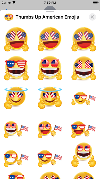 Thumbs Up American Emojis screenshot 4