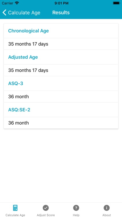 ASQ Age & Score Calculator