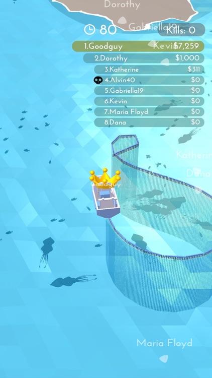 Fishingnet 3D: Battle io game screenshot-5
