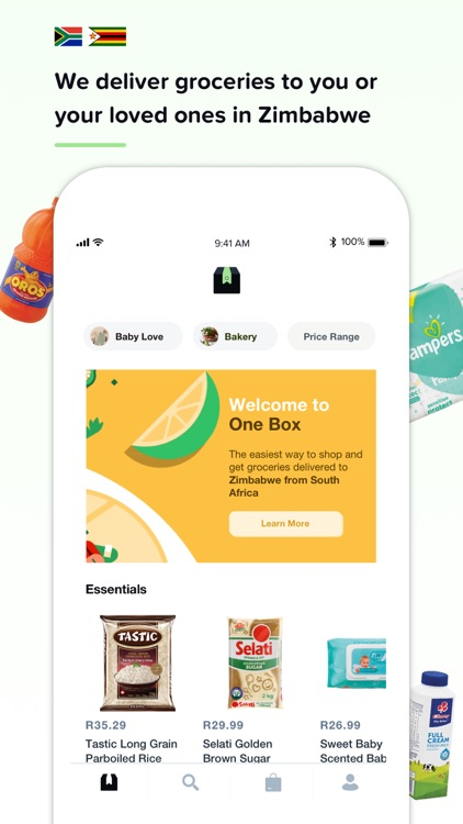One Box: Groceries to Zimbabwe