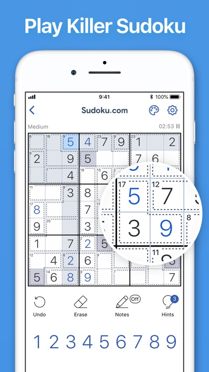 Killer Sudoku by Sudoku.com screenshot-0