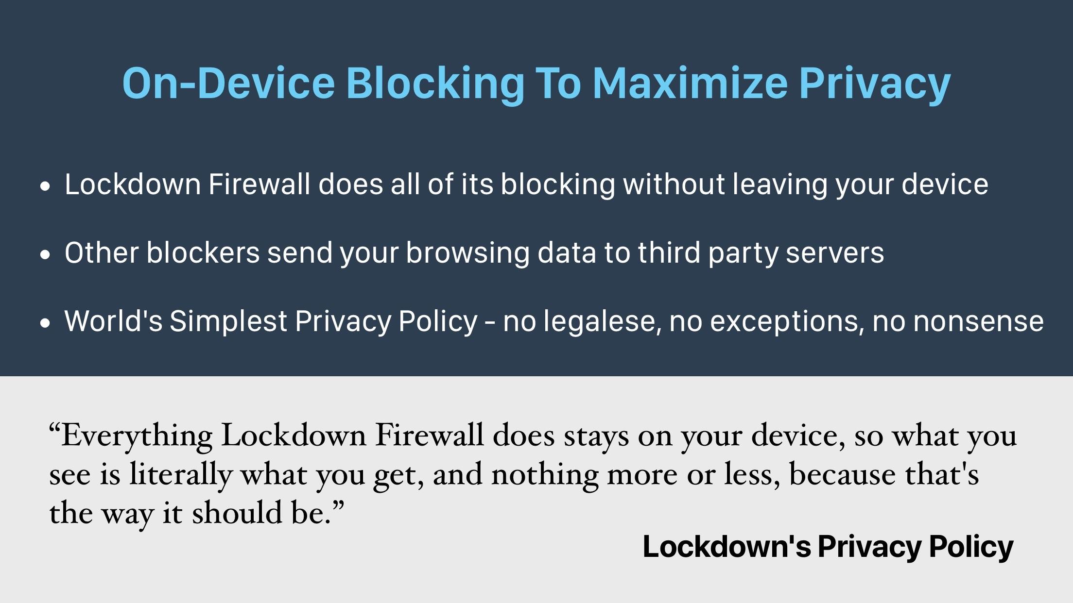 Screenshot do app Lockdown Privacy