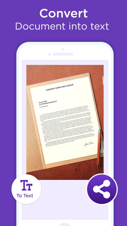 Scanner App - Scan Text & PDF