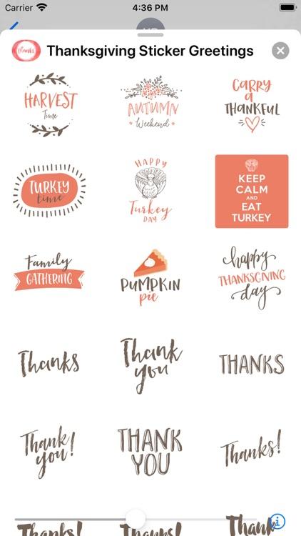Thanksgiving Sticker Greetings screenshot-3