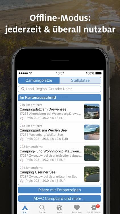 ADAC Camping / Stellplatz 2021 screenshot-8