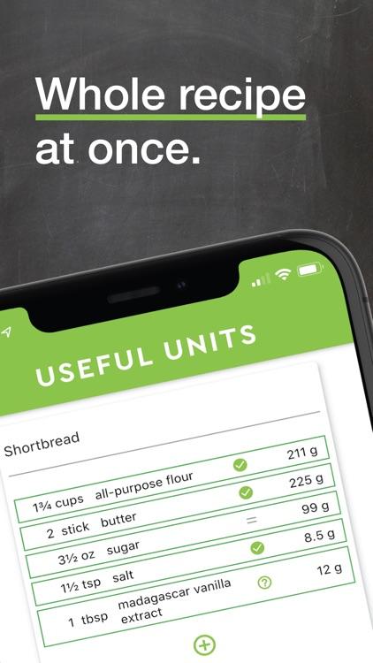 Useful Units Recipe Converter screenshot-0