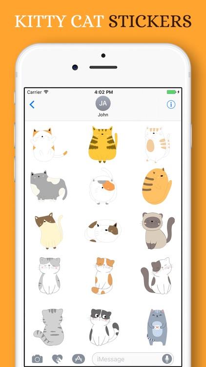 Kitty Cat Stickers Pack screenshot-3