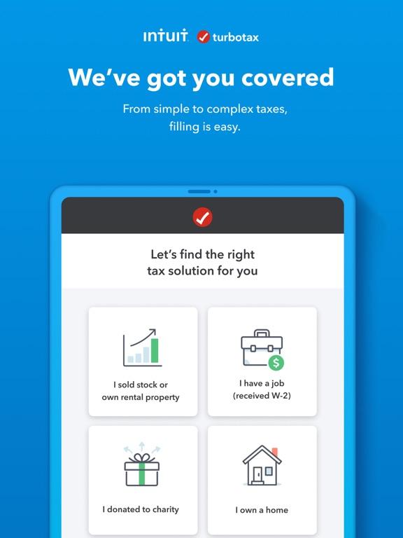 iPad Image of TurboTax Tax Return App
