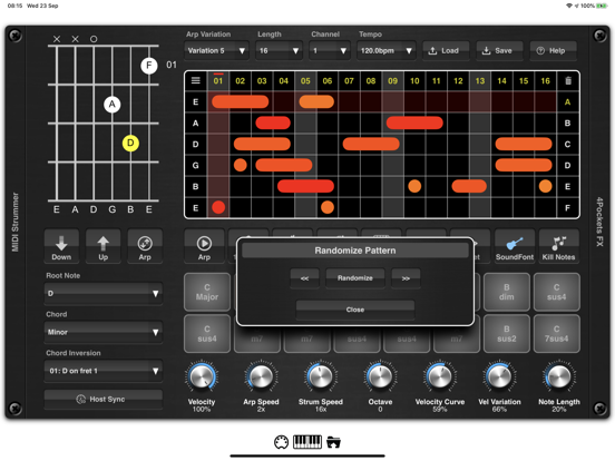 MIDI Strummer AUv3 Plugin screenshot 9