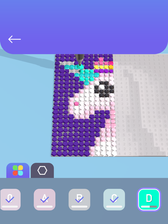 iPad Image of Diamond Painting ASMR Coloring