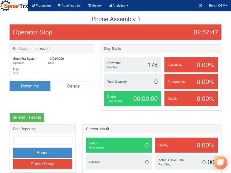 SensrTrx for iPad