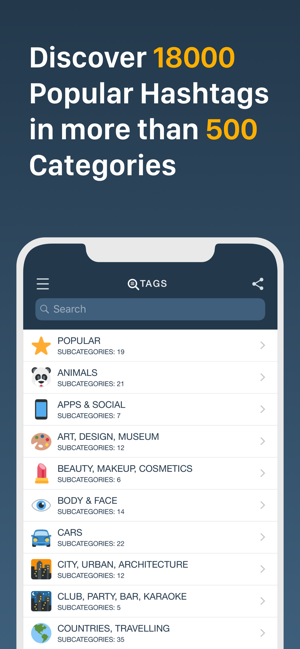 Hashtag Tags For Likes On The App Store