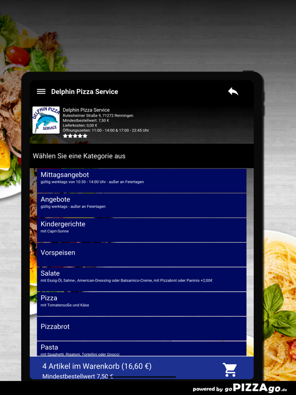 Delphin Pizza Renningen screenshot 8