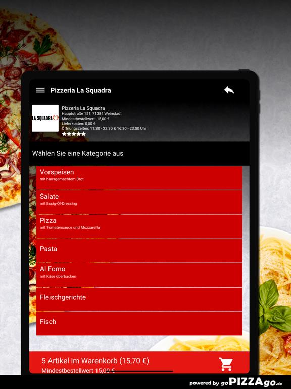 Pizzeria La Squadra Weinstadt screenshot 8