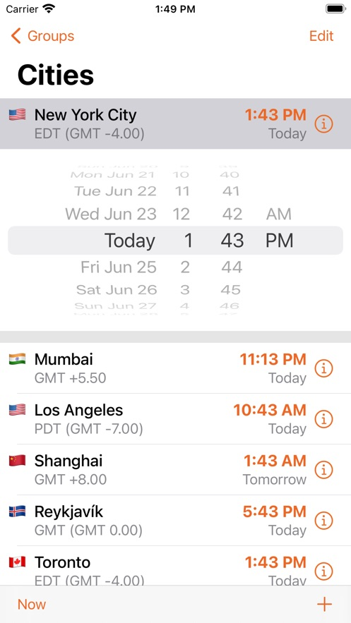 iTimeZone App 截图