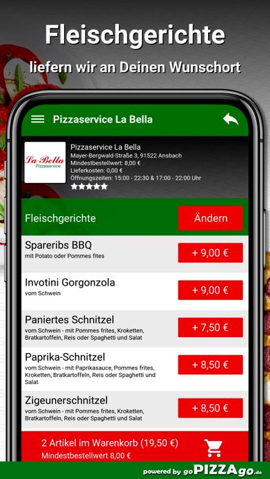 Pizzaservice La Bella Ansbach screenshot 6