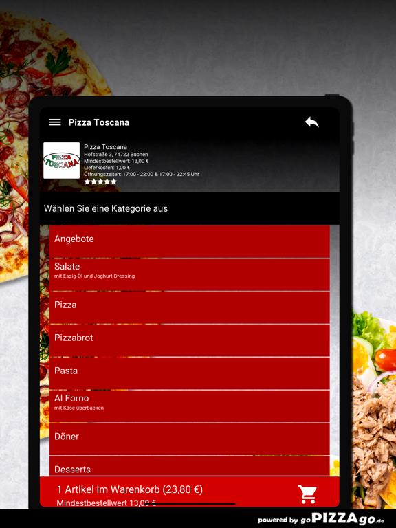 Pizza Toscana Buchen screenshot 8