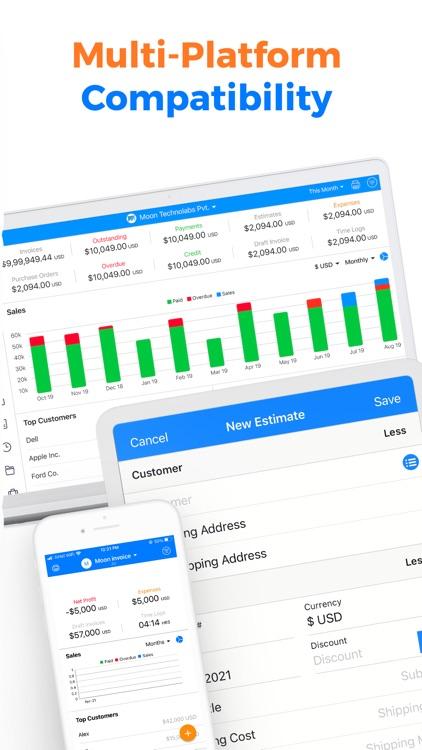 Simple Invoice Maker App- Moon screenshot-9