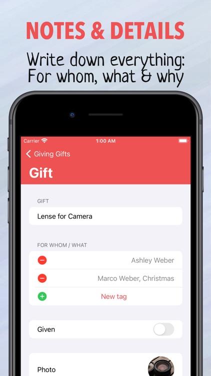 Giving Gifts - Idea Planner screenshot-5