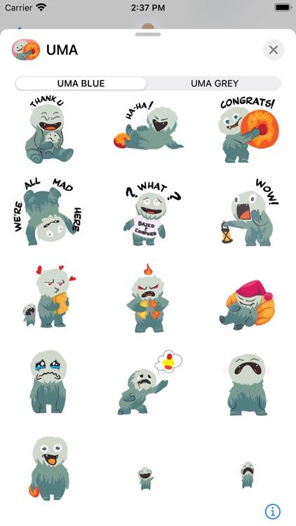 UMA Animated Stickers