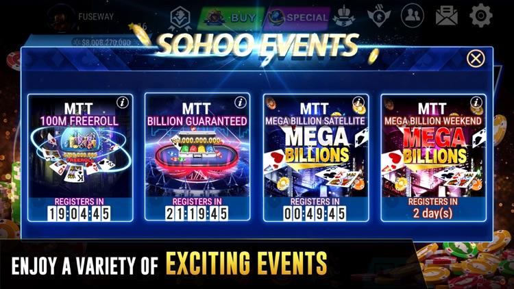 Texas Holdem Poker-Sohoo Poker screenshot-3
