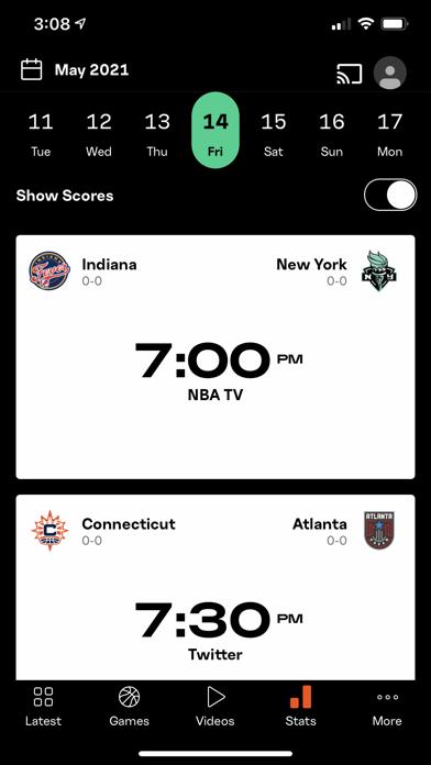 WNBA - Live Basketball Games Screenshot