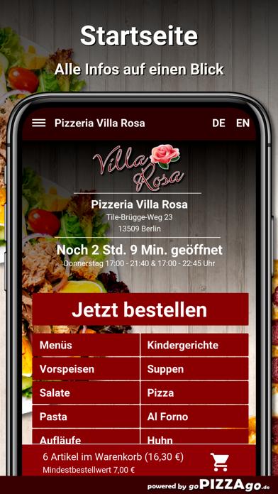 Pizzeria Villa Rosa Berlin screenshot 4