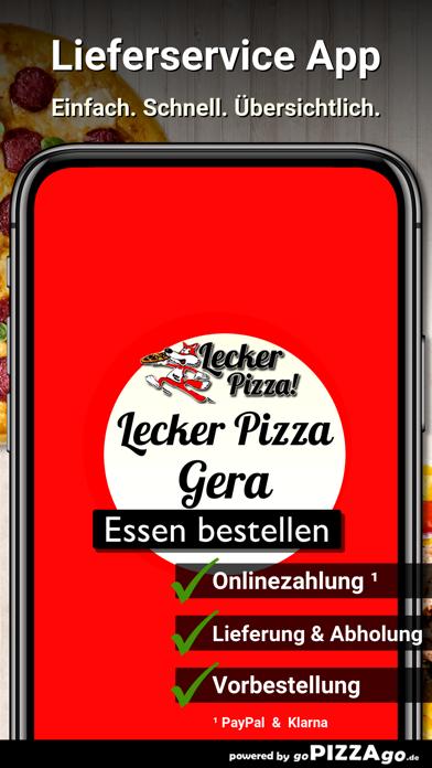Lecker Pizza Gera screenshot 1