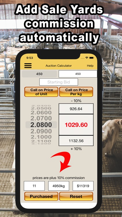 Livestock Auction Calculator screenshot-3