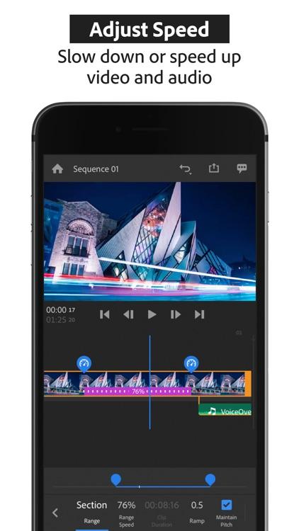 Adobe Premiere Rush:Edit Video screenshot-3