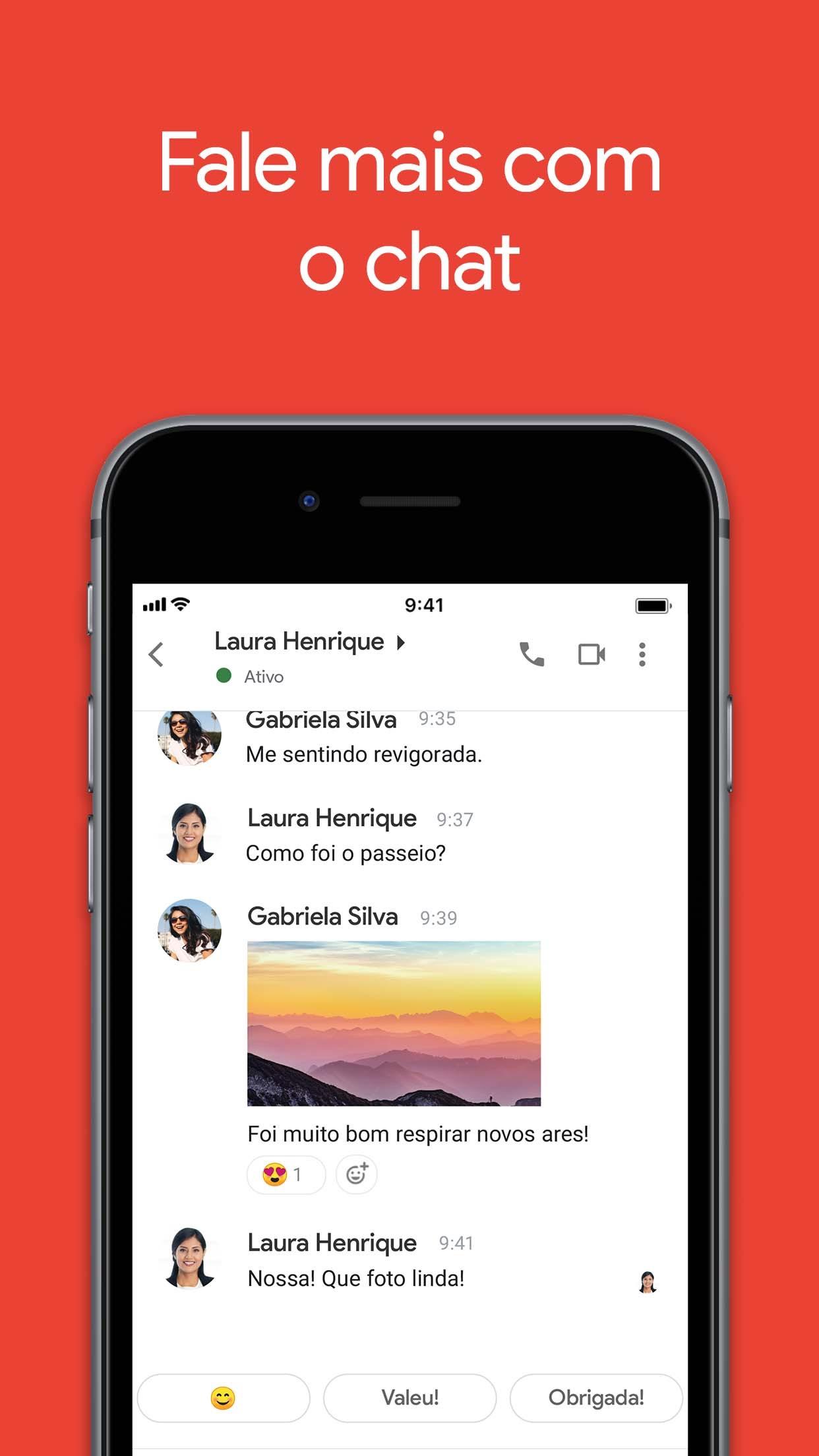 Screenshot do app Gmail: E-mail do Google