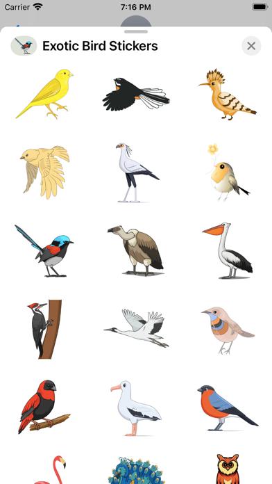 Exotic Bird Stickers screenshot 3