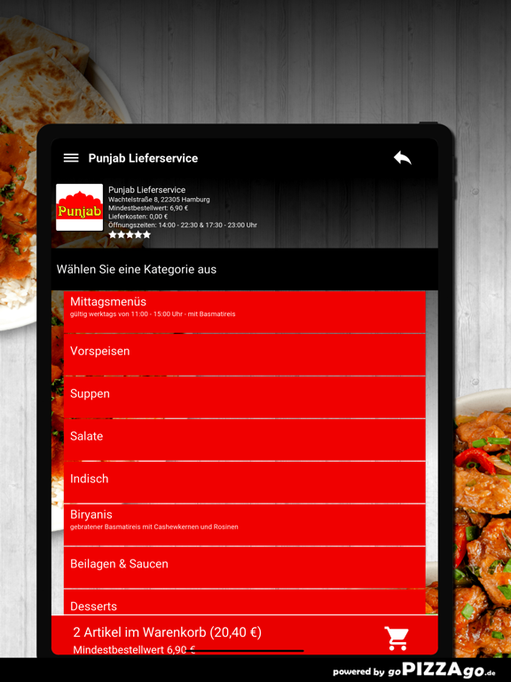 Punjab Lieferservice Hamburg screenshot 8